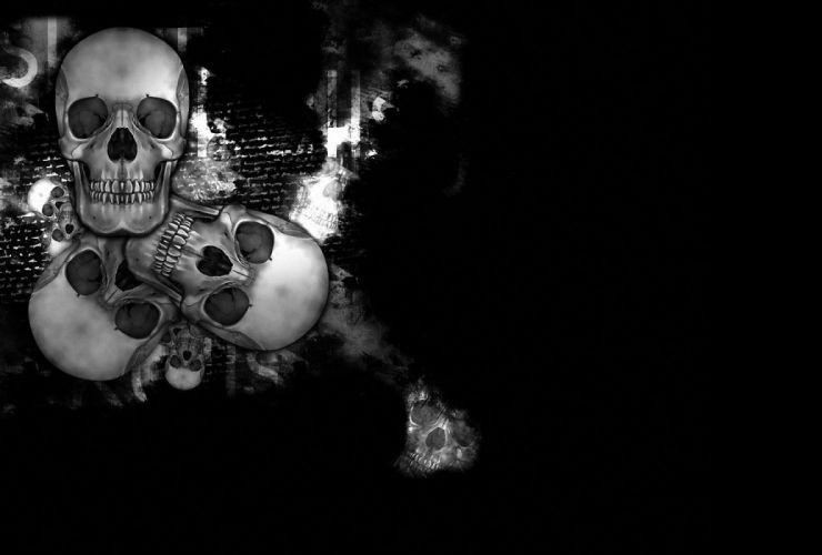 dark skull gothic occult wallpaper