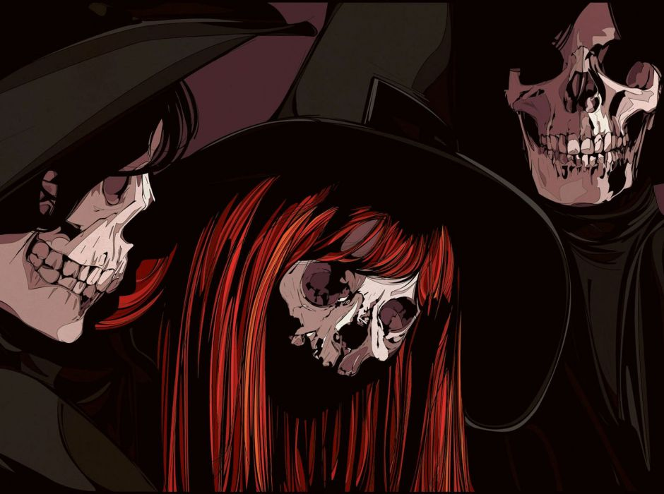 dark witch harry potter oocult skull wallpaper