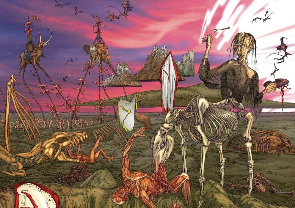 satanic demon monster horror evil death gore macabre fantasy wallpaper