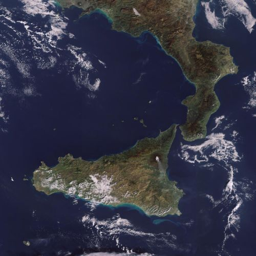 Sicily and Mount Etna 2000x2000 wallpaper