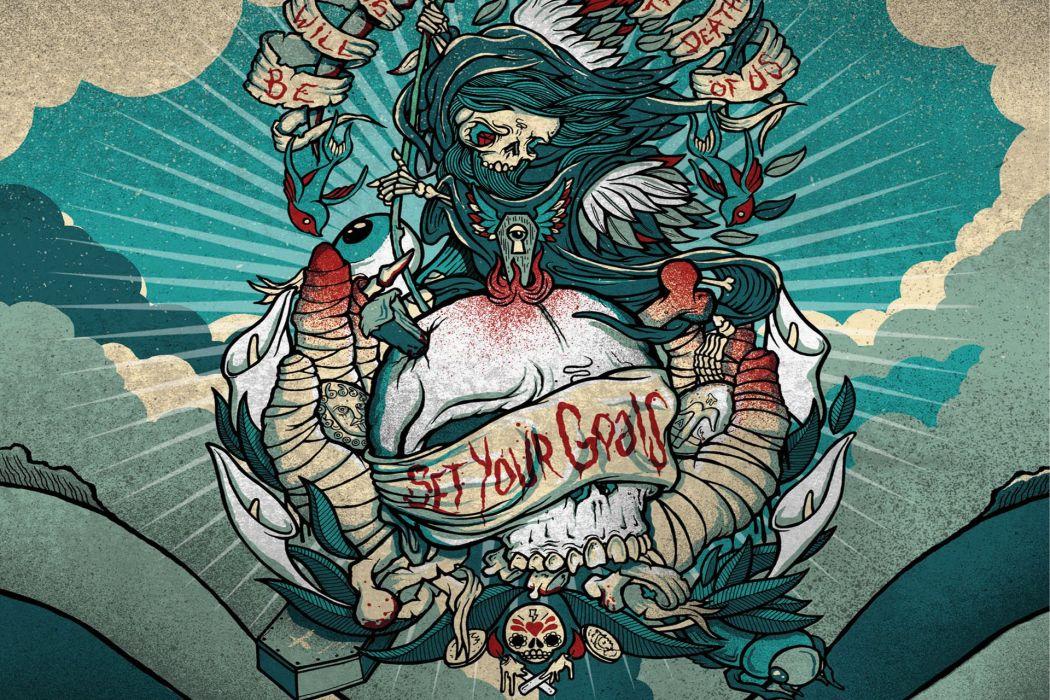 tattoo dark skull quote blood wallpaper