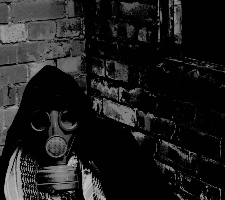 fetish cosplay apocalyptic gas mask anarchy wallpaper