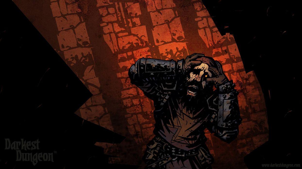 DARKEST DUNGEON fantasy dark warrior game games adventure r wallpaper