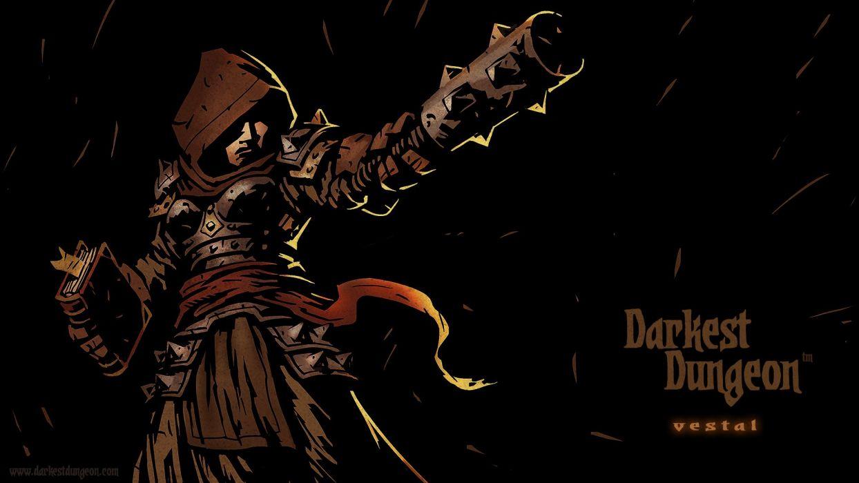 DARKEST DUNGEON fantasy dark warrior game games adventure  fs wallpaper