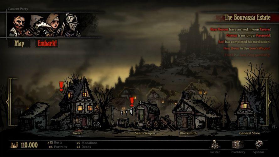 DARKEST DUNGEON fantasy dark warrior game games adventure y wallpaper