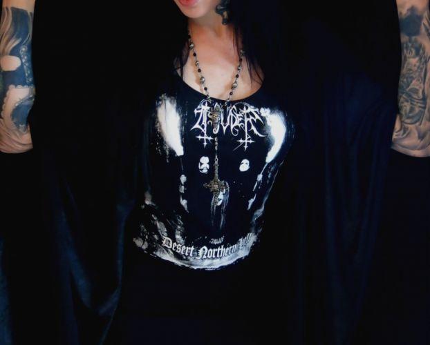 TSJUDER blask metal heavy sexy babe gothic emo f wallpaper
