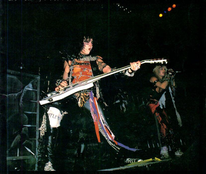 MOTLEY CRUE hair metal heavy concert guitar poster    gd wallpaper