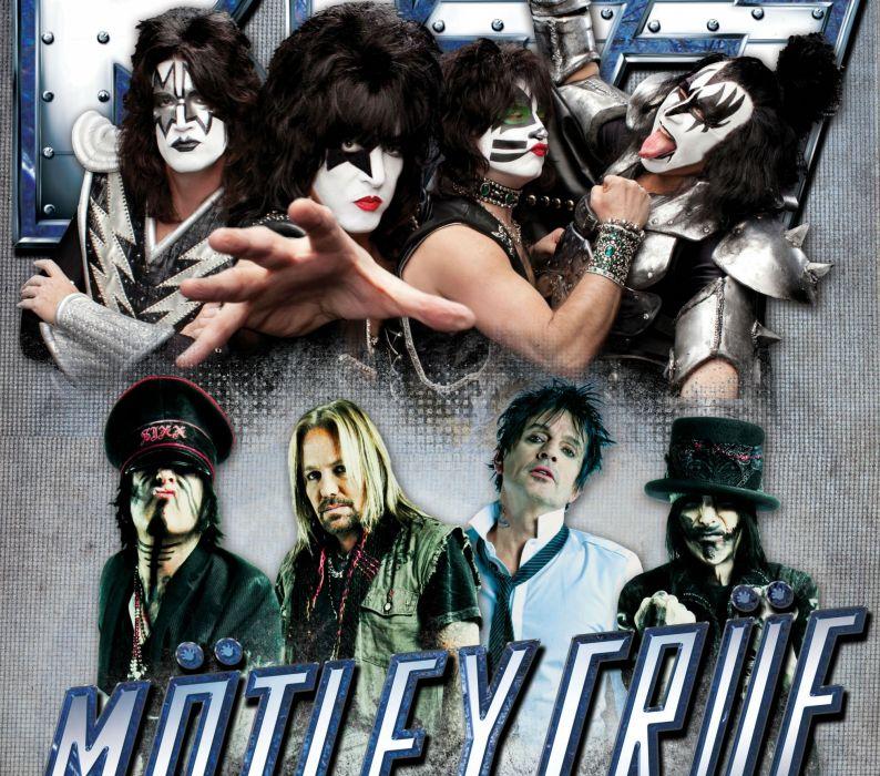MOTLEY CRUE KISS hair metal heavy poster   hf wallpaper