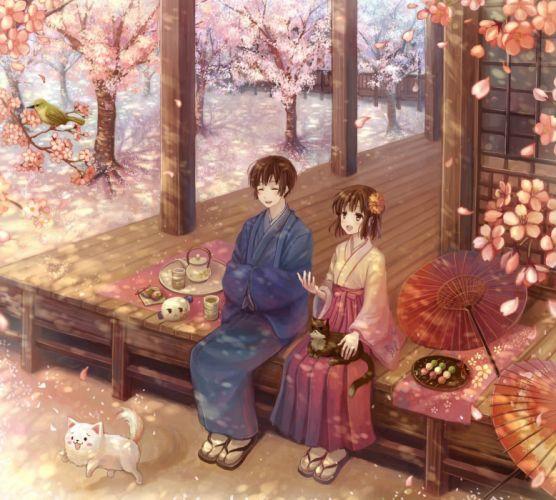Japan Axis Powers Hetalia moe (anime concept) Japanese clothes wallpaper