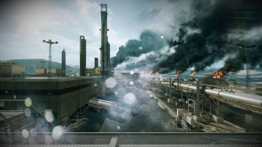 video games clouds Battlefield Battlefield 3 burning wallpaper