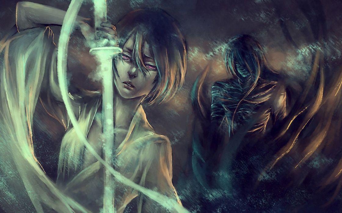 Bleach Kurosaki Ichigo Fantasy Art Kuchiki Rukia Final Getsuga Tenshou Mugetsu NanFe Wallpaper