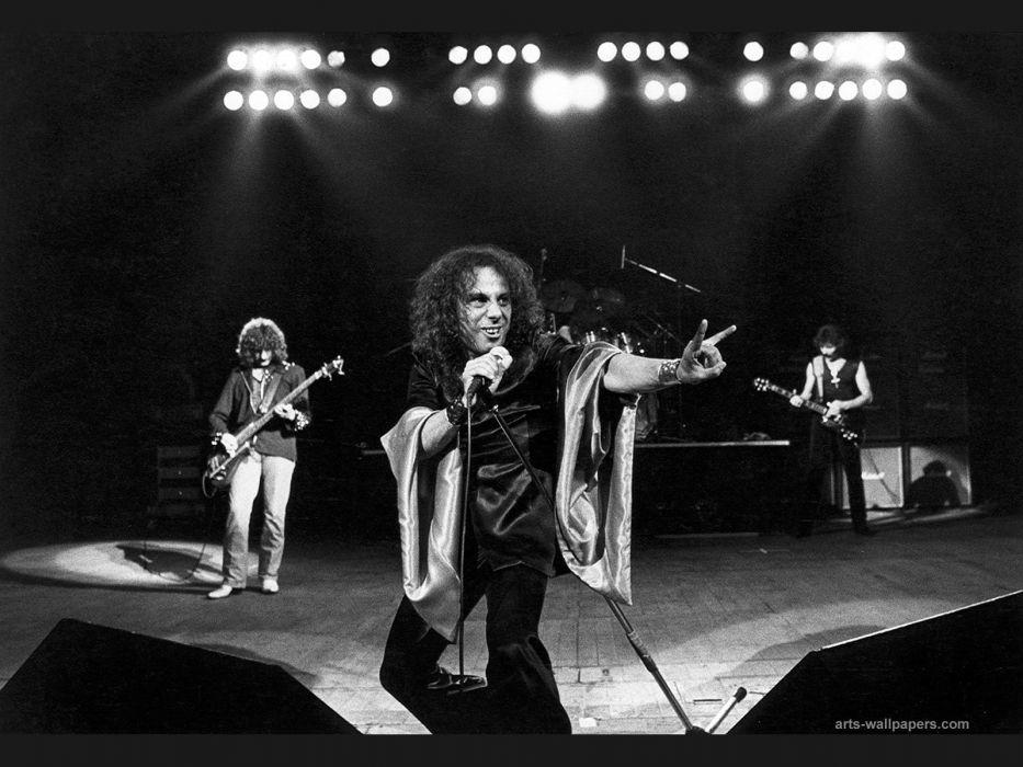 RONNIE JAMES DIO heavy metal black sabbath concert singer     g wallpaper