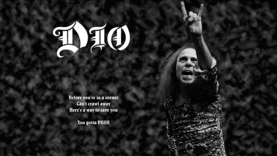RONNIE JAMES DIO heavy metal poster gd wallpaper