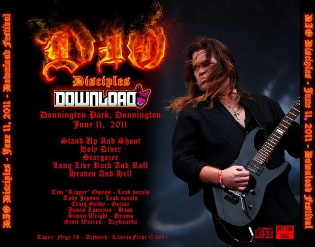 RONNIE JAMES DIO heavy metal poster concert guitar f wallpaper