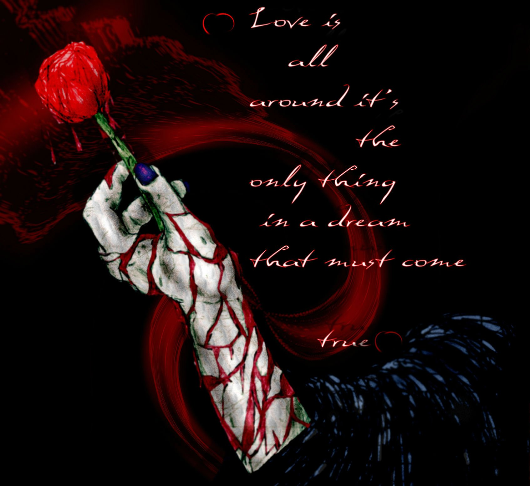 Love Sad Blood Wallpaper : Love mood gothic rose blood emo dark wallpaper 1694x1553 329826 WallpaperUP