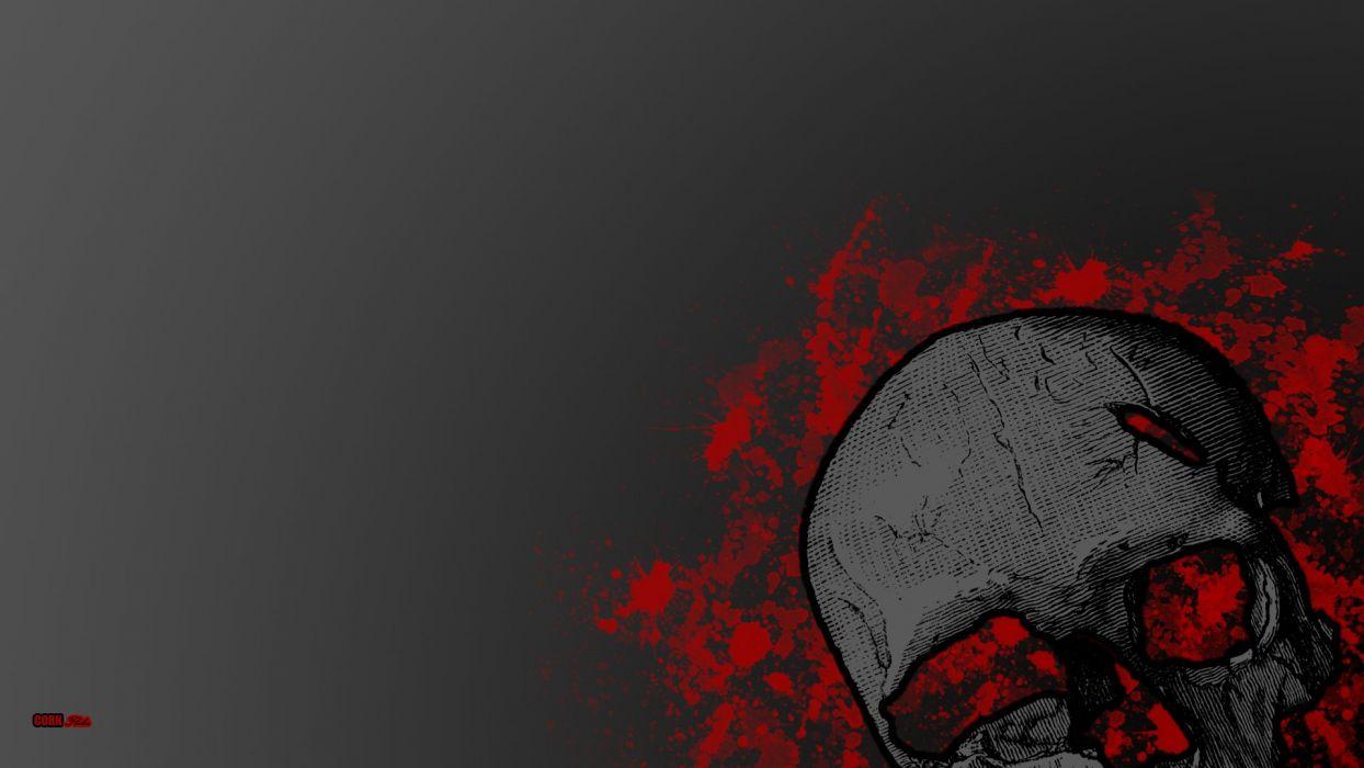 dark blood skull wallpaper