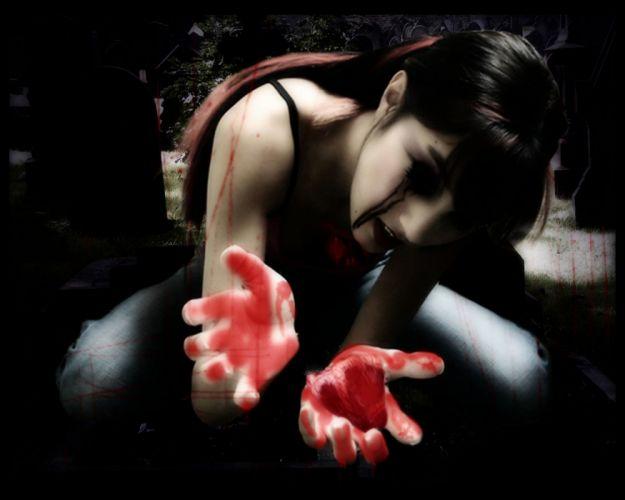 blood gothic horror dark emo wallpaper