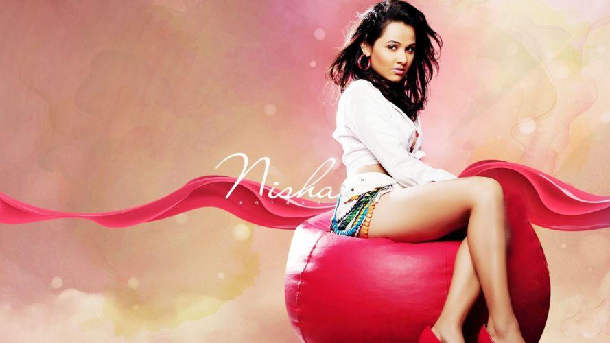 NISHA KOTHARI indian actress bollywood model babe (19) wallpaper
