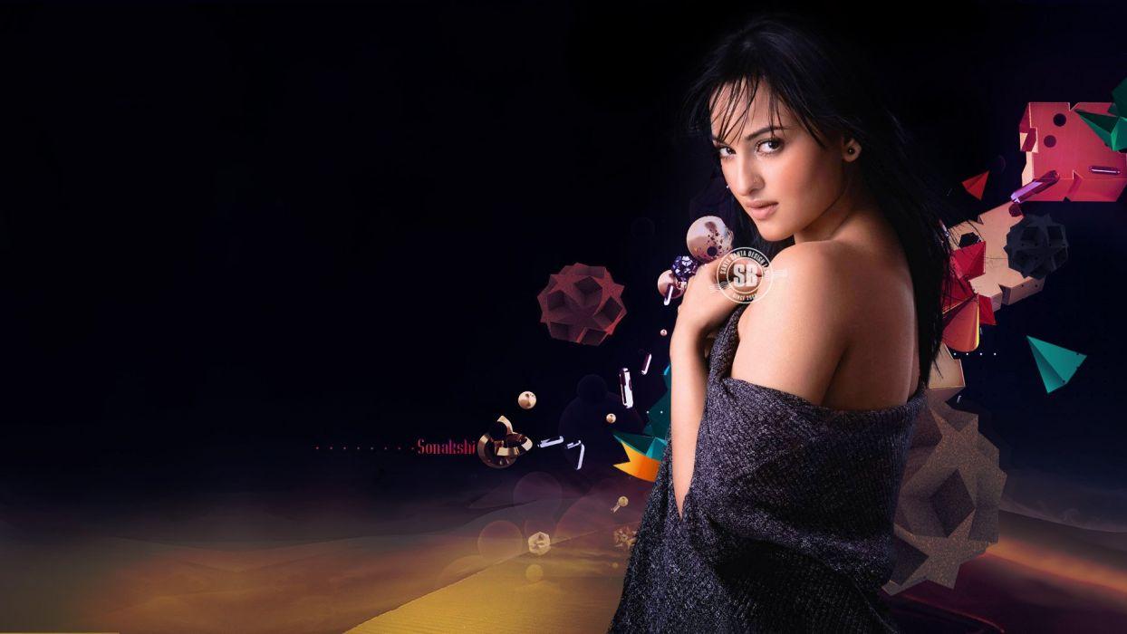 SONAKSHI SINHA indian actress bollywood babe model (61) wallpaper