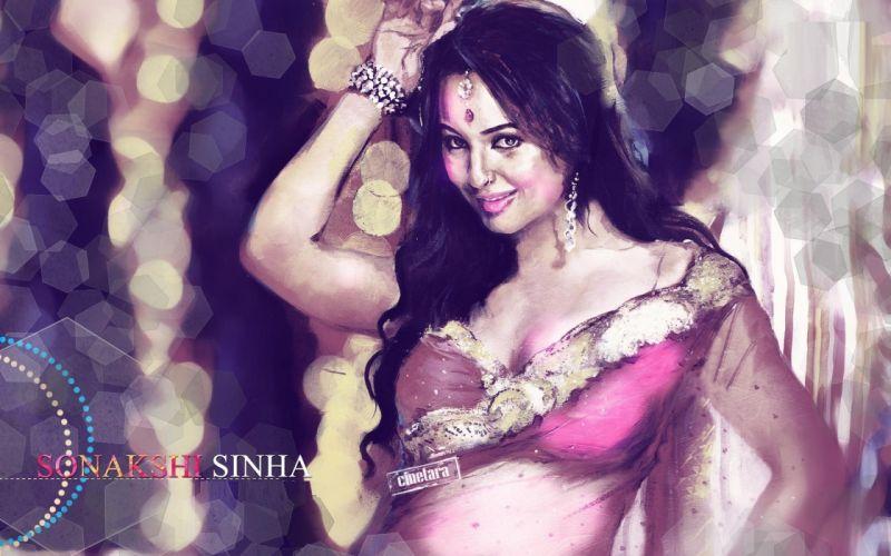 SONAKSHI SINHA indian actress bollywood babe model (77) wallpaper