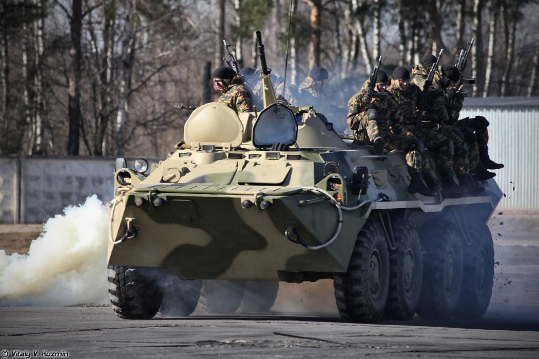 BTR-80 armored russian police Operators from 33rd OSN Peresvet showed hand-to-hand combat skills and some nice acrobatics wallpaper