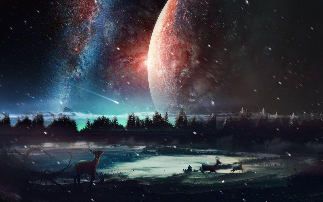 universe scenery-wide wallpaper
