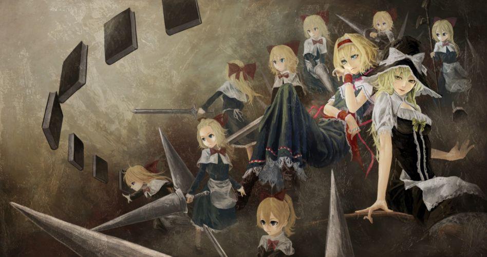 Touhou Kirisame Marisa Alice Margatroid anime girls Akaikitsune Shanghai doll wallpaper