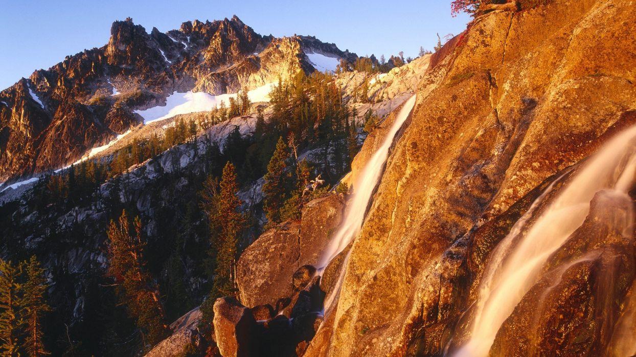 sunrise nature peak Washington wallpaper
