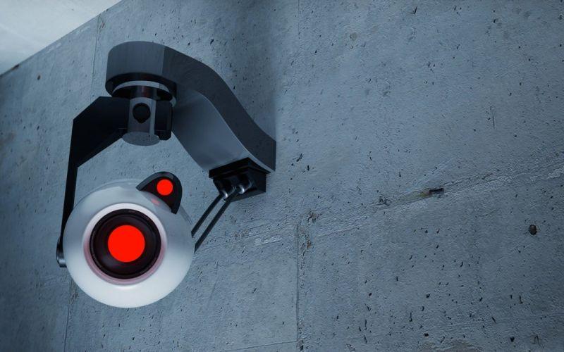 Portal Security cam wallpaper