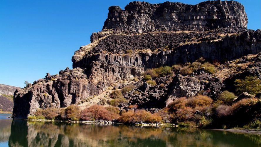 mountains rivers wallpaper
