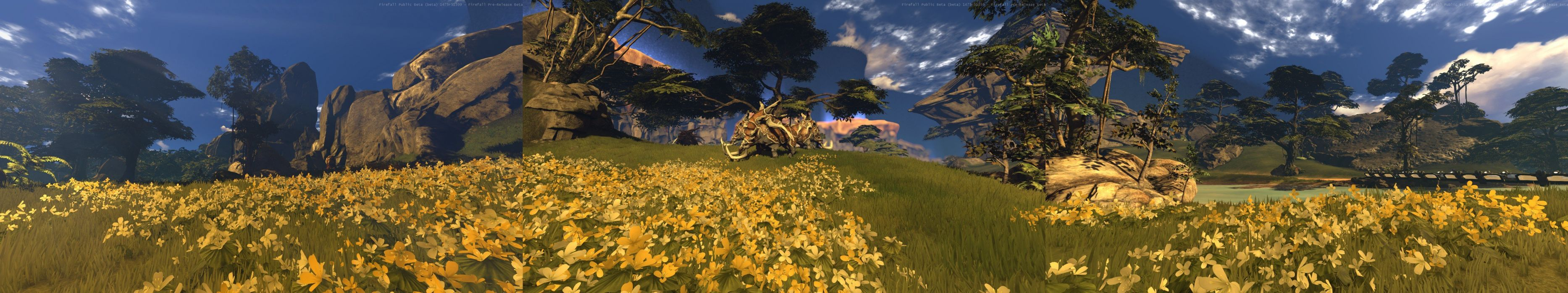 video games MMORPG multiscreen firefall first person shooter composite wallpaper