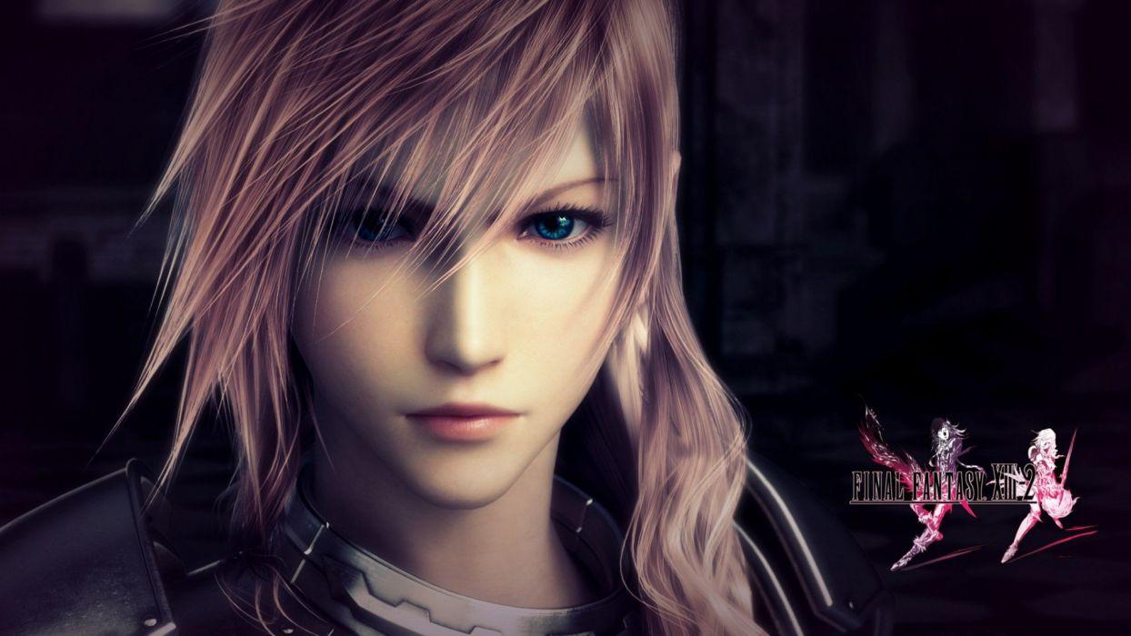 Final Fantasy video games CGI lightning wallpaper