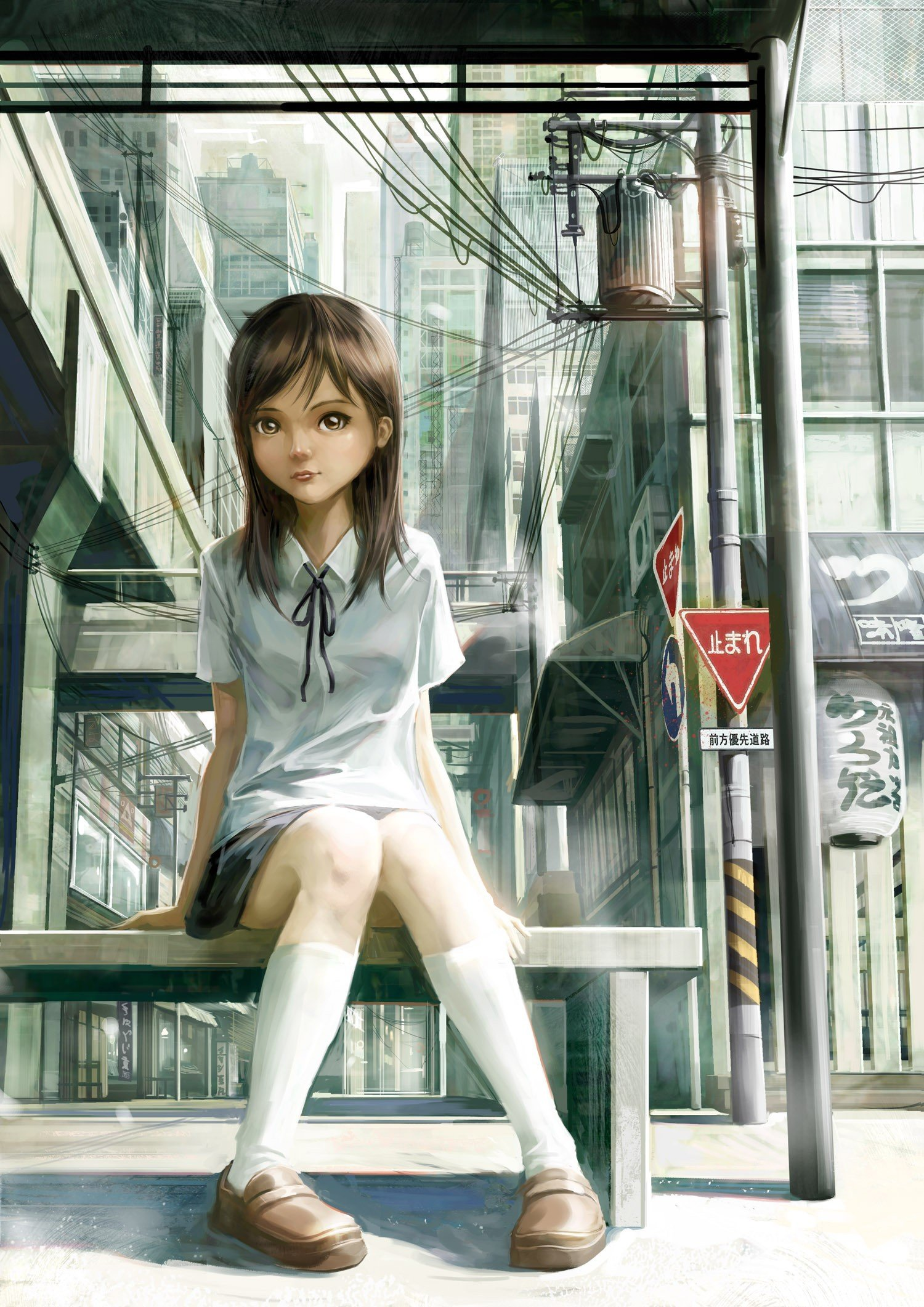 Cityscapes Art Drawing Art Drawings Anime Girls