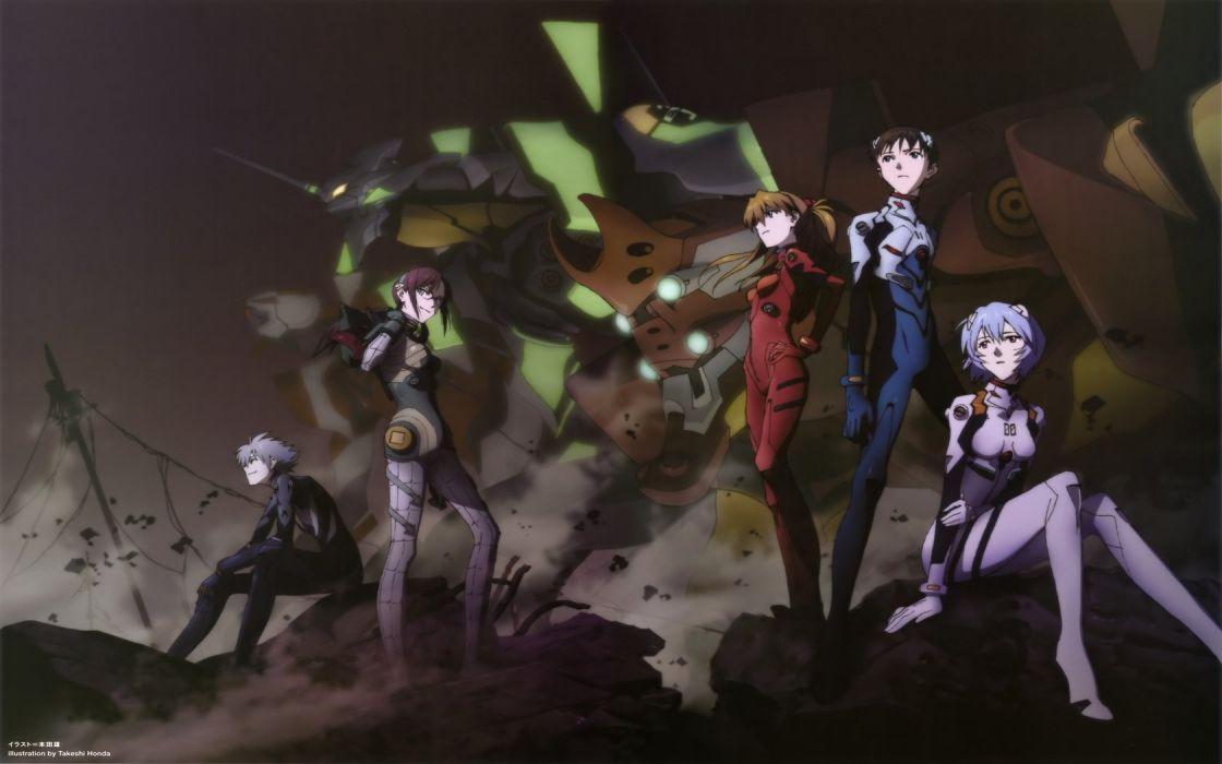 Ayanami Rei Neon Genesis Evangelion Ikari Shinji Kaworu Nagisa Makinami Mari Illustrious EVA Unit 01 wallpaper