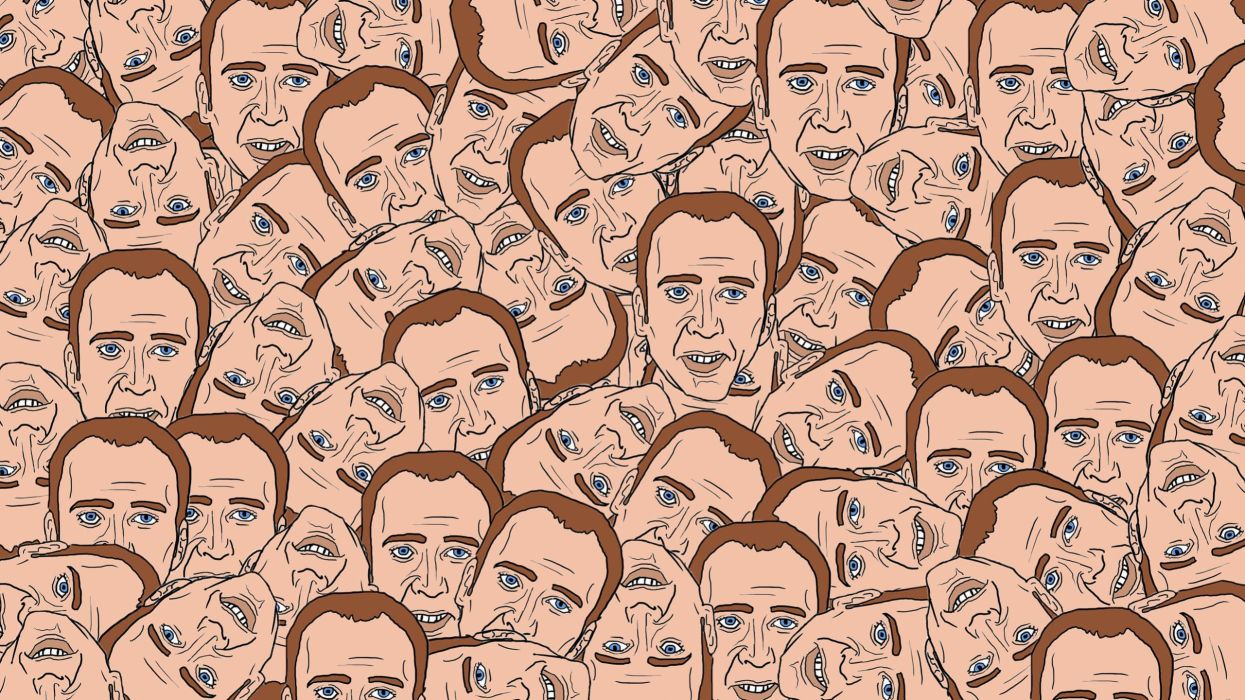 creepy WTF funny head disturbing Nicolas Cage wallpaper