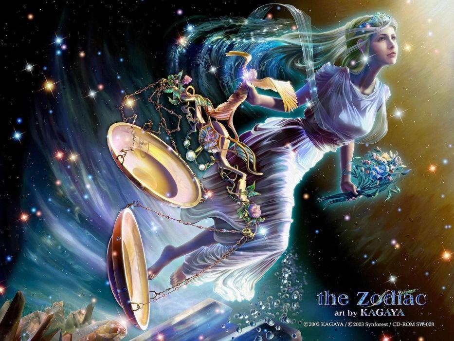 Fantasy Art Zodiac Scales Kagaya Yutaka Libra Wallpaper