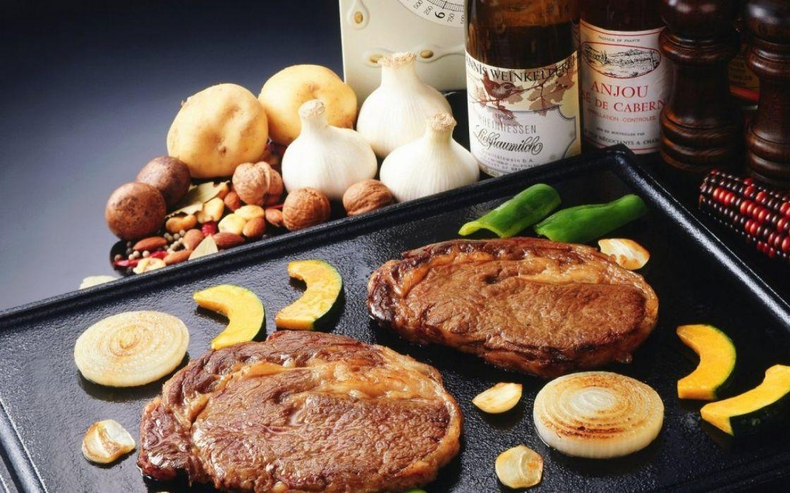 fruits food meat tables pork steak wallpaper