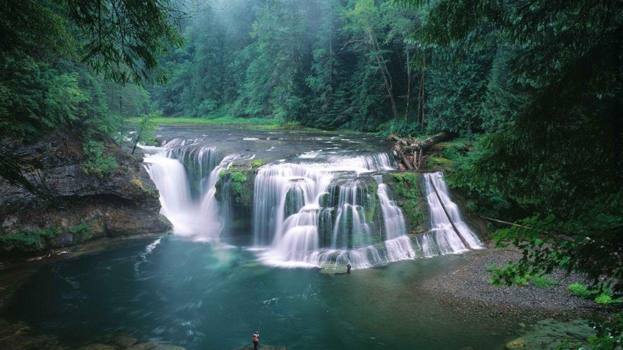 forests falls national rivers Washington wallpaper