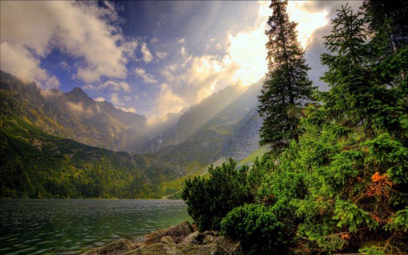 landscapes nature lakes wallpaper