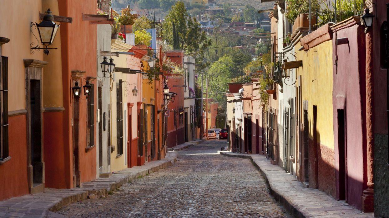 streets multicolor Mexico wallpaper