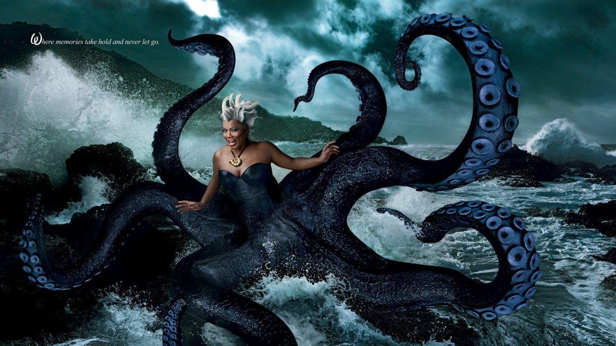 Disney Company tentacles The Little Mermaid artwork fairy tales Annie Leibovitz Tales of ursula Queen Latifah wallpaper