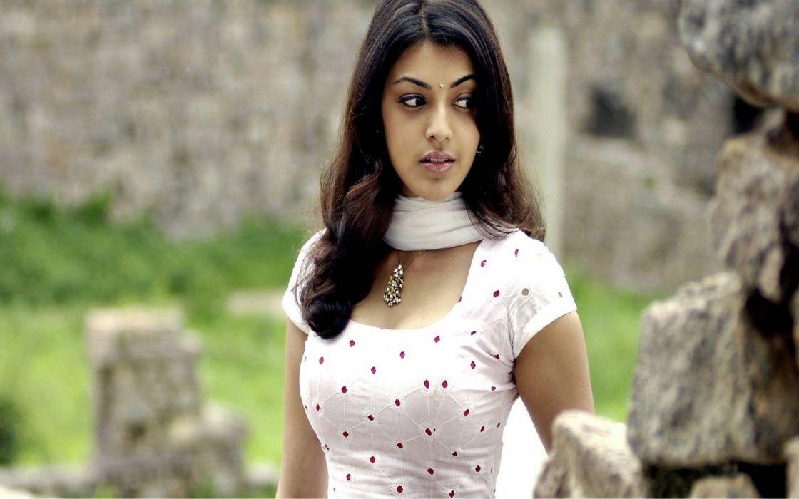 KAJAL AGARWAL indian actress bollywood model babe (35) wallpaper