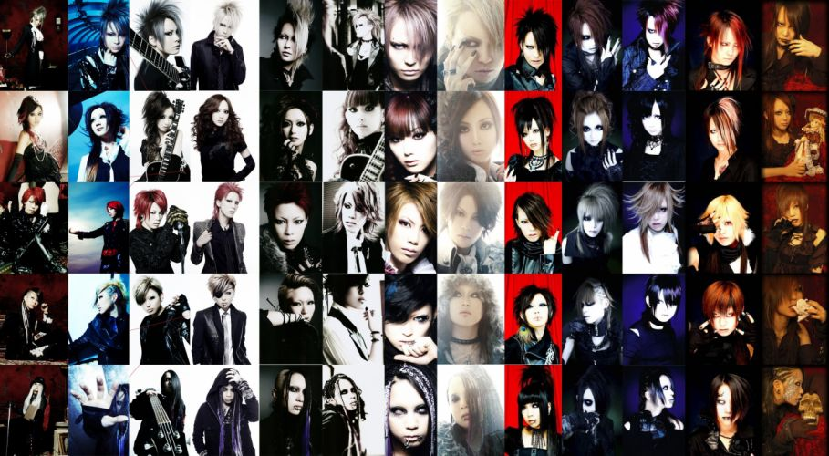 EXIST TRACE visual kei metal heavy rock jrock poster tile collage wallpaper