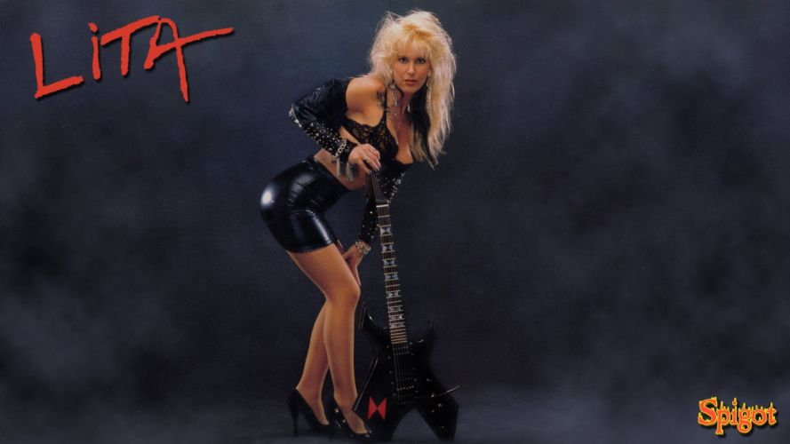 LITA FORD heavy metal hard rock babe poster sexy guitar wallpaper