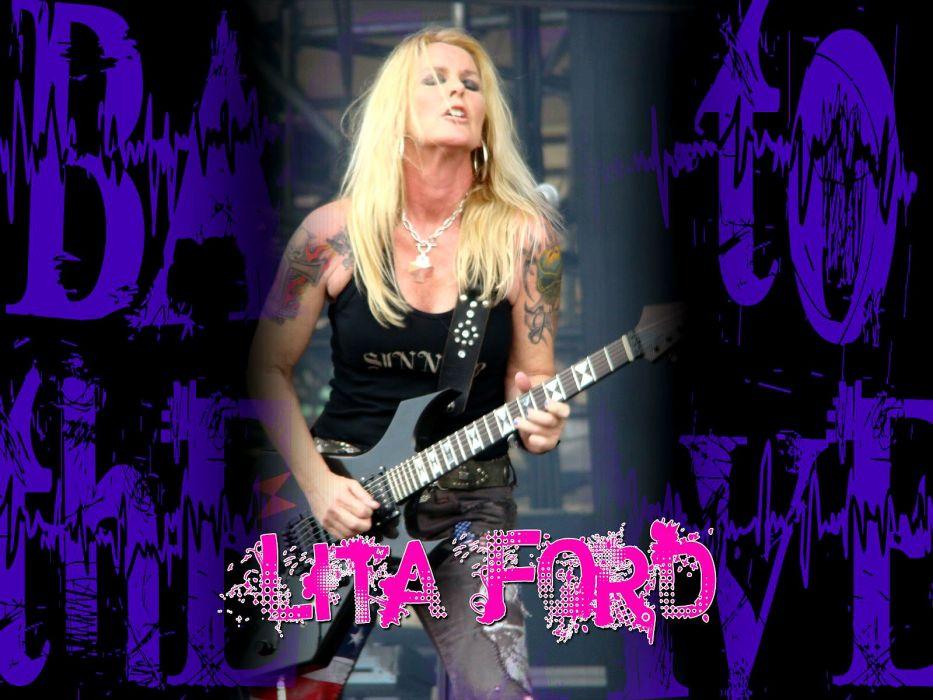 LITA FORD heavy metal hard rock babe poster guitar wallpaper