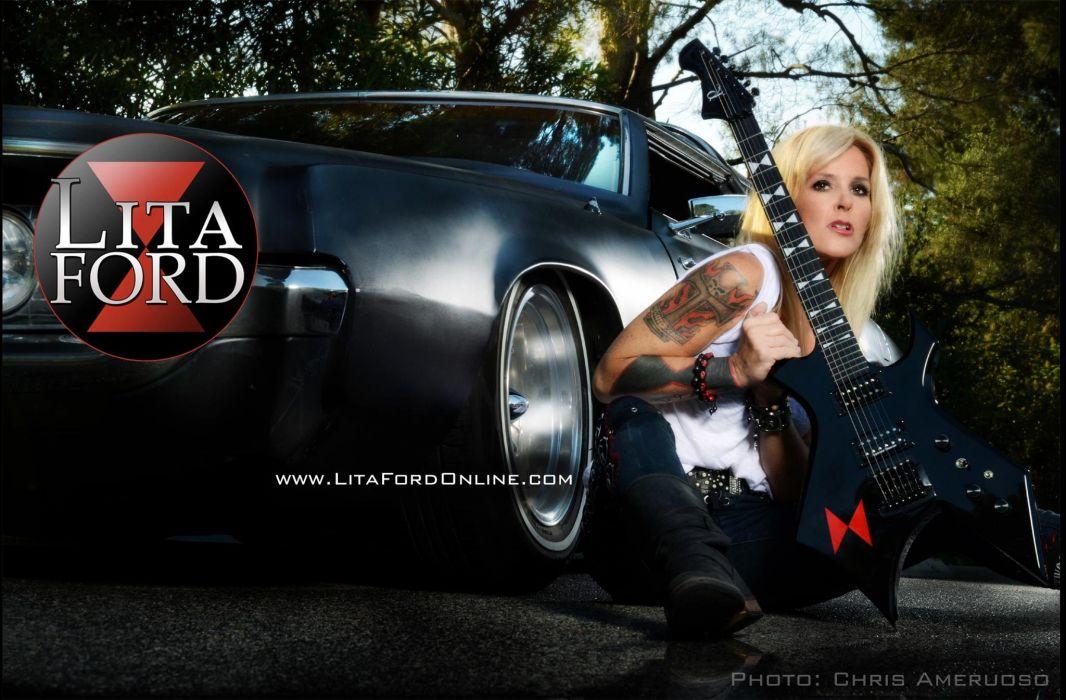 LITA FORD heavy metal hard rock babe poster guitar lowrider wallpaper