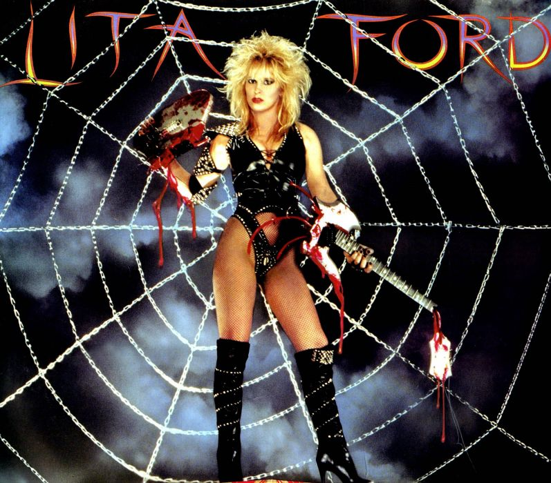 LITA FORD heavy metal hard rock babe poster sexy wallpaper