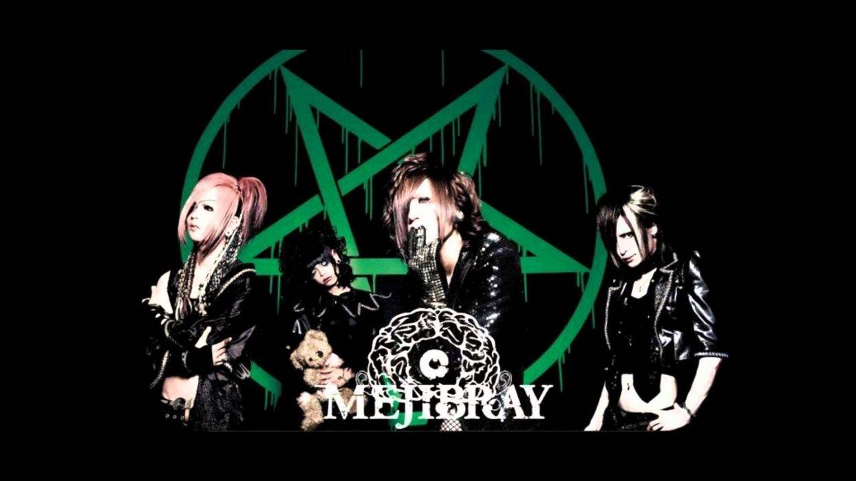 MEJIBRAY visual kei metal heavy hard rock jrock poster dark occult pentagram gothic wallpaper