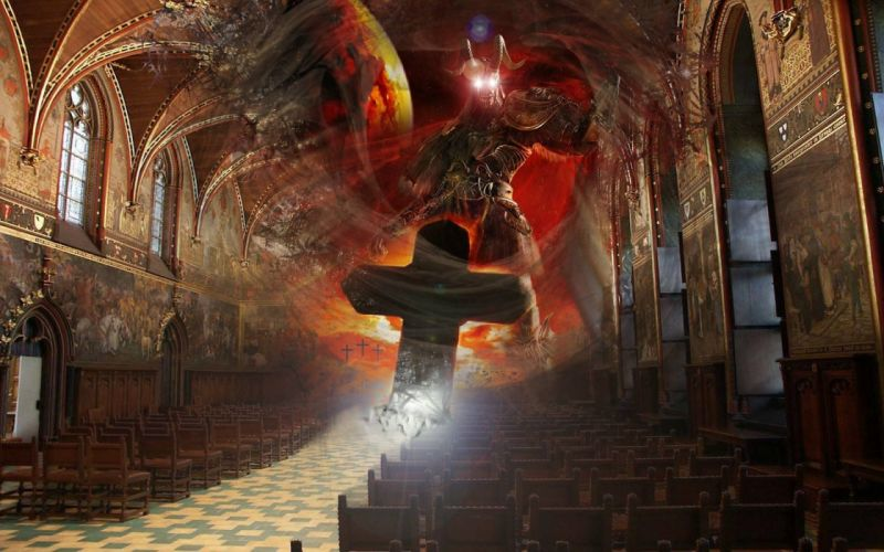 satanic occult satan cross dark evil wallpaper