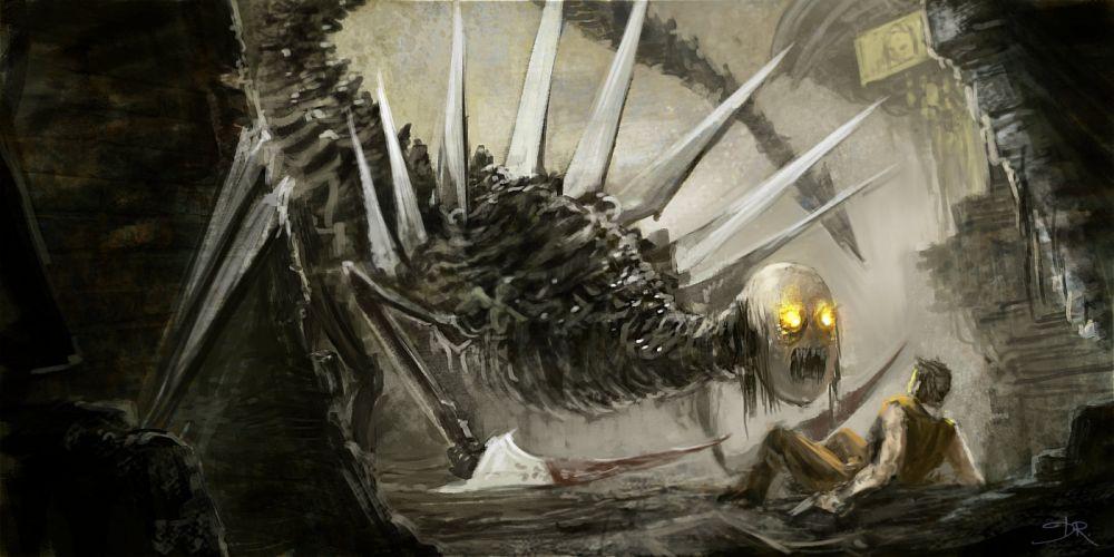 dark fantasy monster sci-fi horror wallpaper